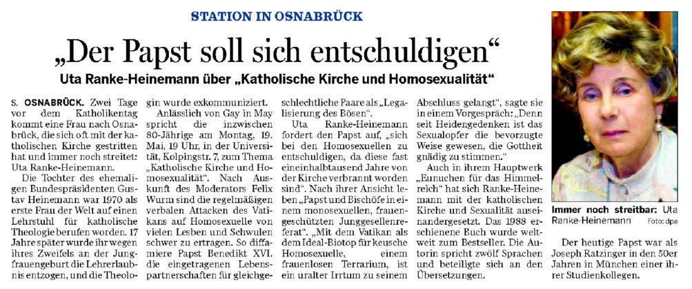 NOZ Vorbericht Ranke Heinemann 01 16.05.2008