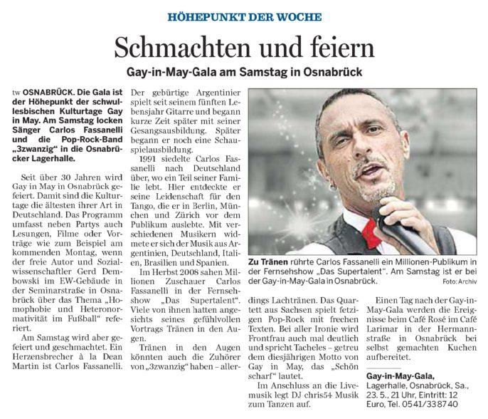 NOZ Gala Vorbericht 18.05.2009