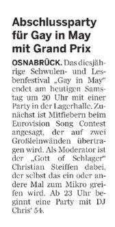 Neue Osnabruecker Zeitung GiM Party 29.05.2010