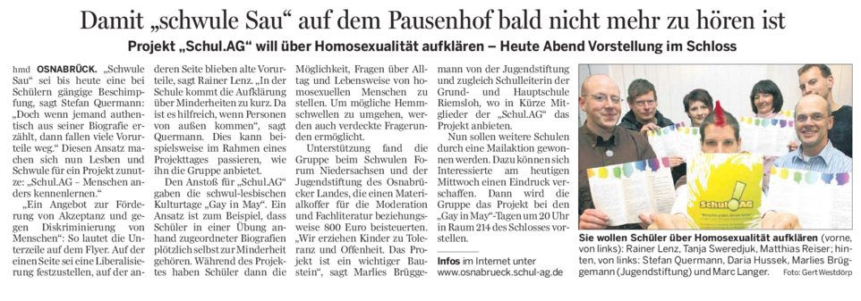 NOZ Schul.AG 06.05.2009