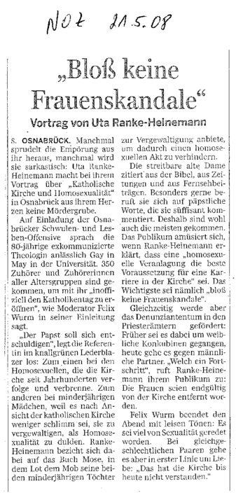 NOZ Bericht Ranke Heinemann 01 21.05.2008