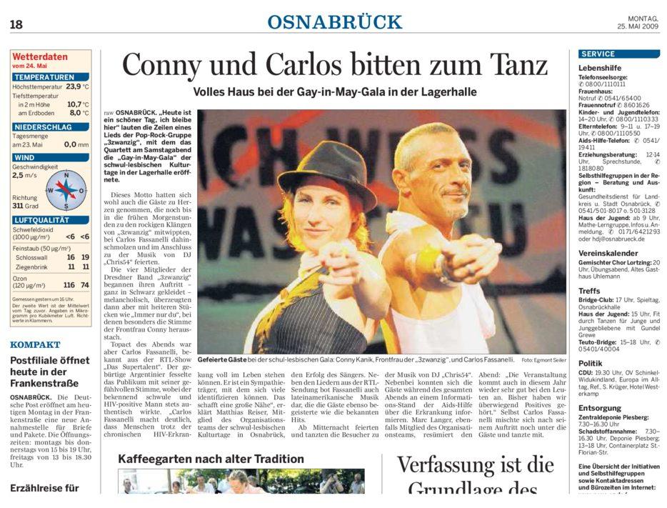 NOZ Gala Nachbericht 25.05.2009