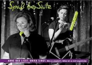 Spaß bei Saite – mit Anne Bax & ANIKA